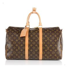 Louis Vuitton Monogram Keepall Bandouliere 45 Duffel Bag ($5,925) ❤ liked on Polyvore featuring bags, luggage, accessories, bolsa and handbags