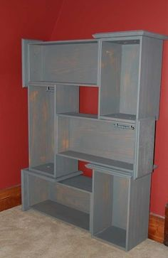 Old Dresser Drawers...love this idea