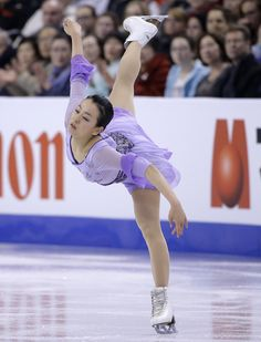Mao Asada, of Japan, competes during the free skate in the World Figure Skating Championships, Saturday, April 2, 2016, in Boston. (AP Photo/Steven Senne) (1868×2452)