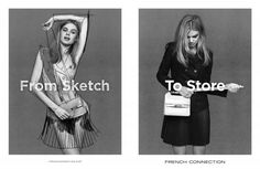 Milou Sluis for French Connection From Sketch to Store FW 13.14 Campaign