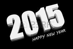 Feliz año nuevo 2015 en 3D. Foto de archivo. Happy New Year 2015.