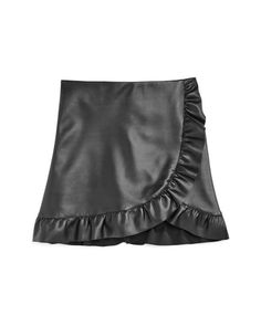 Aqua Girls' Faux-Leather Ruffle-Trim Skirt, Big Kid - 100% Exclusive