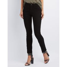 Refuge Skintight Legging Jeans ($30) ❤ liked on Polyvore featuring jeans, black and refuge jeans