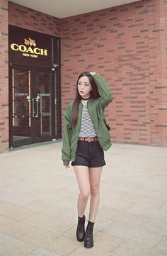 cool with love. : Photo by http://www.redfashiontrends.us/korean-fashion/with-love-photo-2/