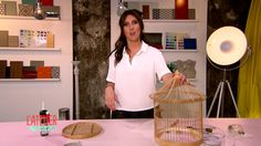 Astuce : Création d'une lampe cage à oiseaux - L'atelier déco - France 2