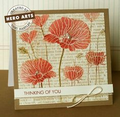 this is the stamp I have...this card shows versamark ink with clear embossing powder...then you blend on the distress ink using ranger blending tool on flowers and fantasix stik on stems....barn door and tattered rose...instructions on hero arts