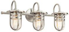 Kichler 45133NI Caparros Modern Brushed Nickel 3-Light Bathroom Lighting Fixture - KIC-45133NI