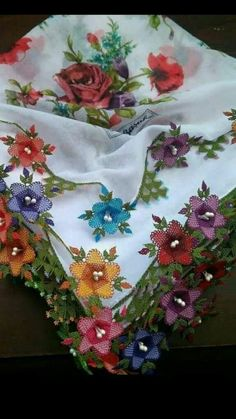 This Pin was discovered by Ayş Tatting, Best T Shirt Designs, Needle Lace, Cutwork, Crochet Motif, Simply Beautiful, Needlework, Cover, Embroidery