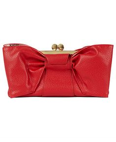 Paint the town in red: JESSICA SIMPSON #red #clutch #bag BUY NOW!