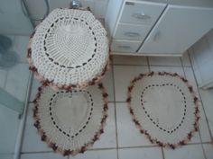 tapetes de croche banheiro - Pesquisa Google