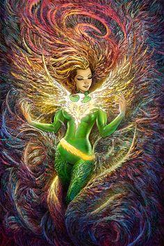 "geekbeyond: ""[ #XMen ] Phoenix Resurrection by Mukesh Singh """