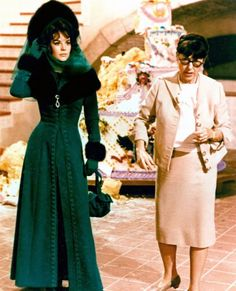 Natalie Wood & Edith Head on the set of The Great Race, 1965.