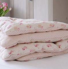 Handmade Vintage Style Eiderdown £229 Peony & Sage. I need this on my bed!!