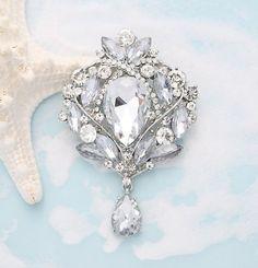 Rhinestone Brooch Wedding Embellishment Broach Bouquet DIY Supply, Bridal Sash Broach for Cake on Etsy, $26.81 AUD