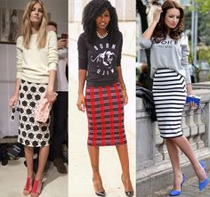 how to wear a pencil skirt with flats | What to Wear | Pinterest ...