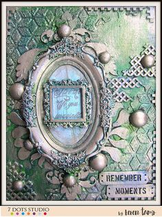 Metallic Canvas- 7 Dots Studio and Finnabair products