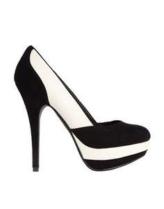 High Heels : Fabulous New Black-White Design Court Shoes