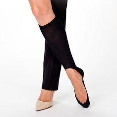 Women's No Show Sock 4 Pack - awesome accessory for the colder months for wearing flats and heels. I personally love these cause the other no show socks they make always fall off my feet and with these there are no worries