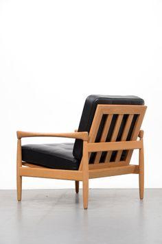 Erik Wørts; Oak 'Kolding' Lounge Chair for Wørts Møbler, 1950s.