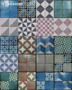 Academy's Quinta tile series from Spain. Gorgeous designs making personality a cinch.