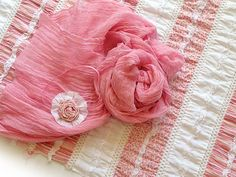 Newborn Baby Photography Prop Layering Set - Mini  Blanket Cheesecloth and Headband Set