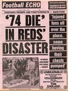 hillsborough disaster newspaper - Google Search
