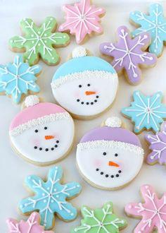 Sweet Pastel Snowman Cookies | Glorious Treats
