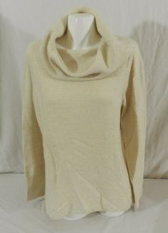 DKNY JEANS Womens Tunic Cowl Neck Pullover Sweater, Almond Color NWT XL #DKNY #CowlNeck