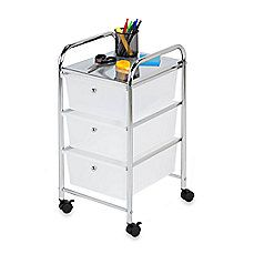 image of Honey-Can-Do® Steel 3-Drawer Rolling Storage Cart