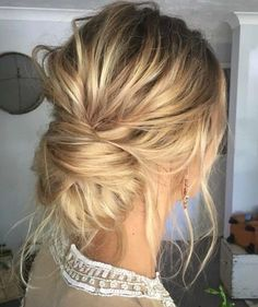 Low messy bun.