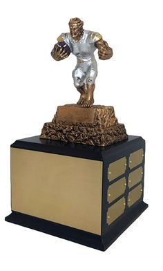 Gold Plates on Perpetual Fantasy Monster Football Trophy Award W ...