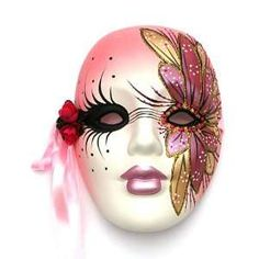 Mardi Gras Wall Masks Ceramic | Mardi Gras Ceramic Masks