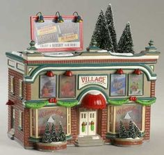 Department Snow Village - Page 4 Department 56 Snow Village Hershey's Chocolate Shop - With Box Lemax Christmas Village, Lemax Village, Christmas Town, Christmas Mantels, Christmas Villages, A Christmas Story, Xmas, Christmas Christmas, Halloween Labels