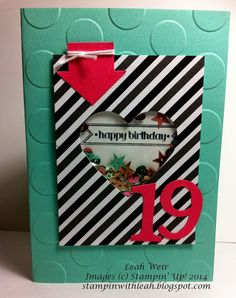 Stampin' With Leah: Teen Shaker Card - Project Life by Stampin' Up!