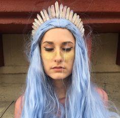 The Isabella Halo Crystal Crown [Raw Pale Pink Crystal Quartz Tiara / Crown], Mermaid Crown, Bridal Crown, Bridal Headpiece, Festival