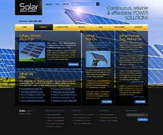 Solar Energy Website Templates by Glenn