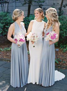 Long periwinkle bridesmaid dresses    #wedding #weddings #weddingideas #engaged #aislesociety #southernwedding