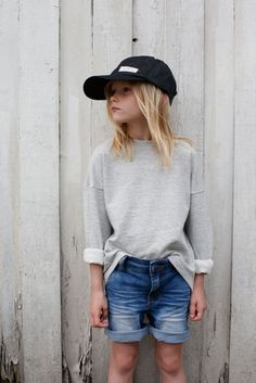 Back to School Outfits Code Cool  Soho shorts + Lo sweater + Harlow denim cap Photo: Max Modén