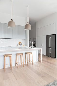 Forever kitchen showcasing Custom timer bench feature - Carrningbah