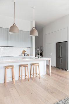 50 Best Modern Kitchen Design Ideas - The Trending House Home Decor Kitchen, Kitchen Interior, Home Kitchens, Kitchen Dining, Skandi Kitchen, Kitchen Island, Kitchen Utensils, Kitchen Ideas, Minimalist Kitchen