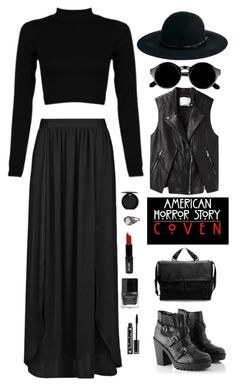 """""""American Horror Story: Coven"""" by savethetrees ❤ liked on Polyvore featuring MANGO, Catarzi, Retrò, 3.1 Phillip Lim, Coven, Zara, Lord & Berry, NYX, Stila and Butter London"""