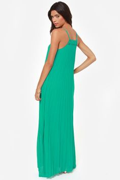 05d0c3fe0f LULUS Exclusive The Pleat Life Teal Maxi Dress at LuLus.com! Teal Green