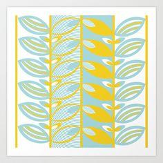 Spring Leaves Art Print by MariskaART - $20.80
