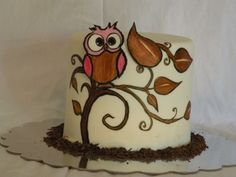 Cute Little Owl By lafguys on CakeCentral.com
