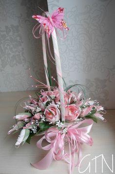 Gallery.ru / Фото #131 - КОРЗИНКИ - gotanya Basket Flower Arrangements, Beautiful Flower Arrangements, Floral Arrangements, Beautiful Flowers, Paper Bouquet, Candy Bouquet, Satin Flowers, Paper Flowers, Bouquet Cadeau