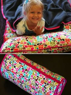 How-To: Roll-Up Nap Mat With Pillow And Blanket   MAKE: Craft