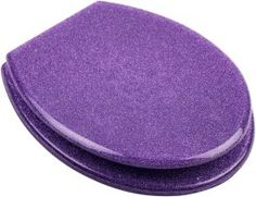 Who doesn't need a purple glitter toilet seat?  Huh?  Who?