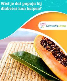 Wist je dat papaja bij diabetes kan #helpen?  Papaja kan een geweldig hulpmiddel zijn voor diabetespatiënten. Want het helpt om de glucoseniveaus op een natuurlijke manier te #stabiliseren. Zorg er wel voor dat je deze #vrucht altijd met mate eet.
