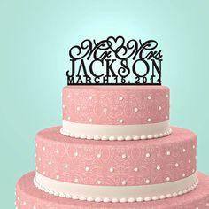 Personalisierte Custom Herr & Frau Wedding Cake von URARTDESIGN, $18.00