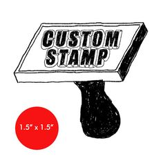 You can create your own custom rubber stamp! Just email us the design you want and we will send you the rubber stamp. Each wooden rubber stamp is made with high-quality red rubber and features a solid wood handle. Details: This stamp measures . 5 Logo, Logo Stamp, Custom Address Stamp, Custom Rubber Stamps, Thing 1, House Drawing, Stamp Making, Stamp Collecting, Custom Homes